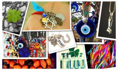 feitiços, talismãs, amuletos, superstição