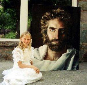 menina desenha deus