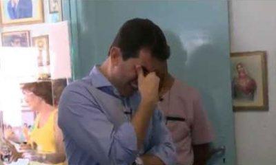 Haroldo Dutra Dias chorando